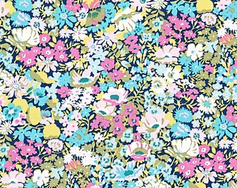 Liberty of London Tana Lawn Thorpe in Pink and Blue -- 1/4 Yard