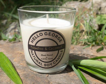 Bamboo & Coconut / Tumbler Candle / 9 ounces / Summer / Spa candles / Hello George