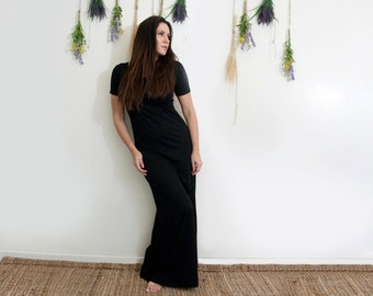 Women's Dress | Short Sleeve Maxi Dress | Tall and Petite Floor Length Dresses | Ethically made in our loft | L415 & Co (#415-657)