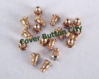 CLEARANCE 42 Anodized Aluminum & Bronze - Mechanical Grip nuts - Earring Backs