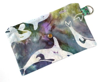 Spoonie Bag (BATIK ORCA) - portable self-care kit for grounding when overstimulated or triggered.