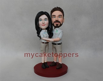 Personalized figurines, unqiue cake topper, unique gift,bobble head cake topper,holiday gift make from your photo