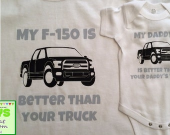 Matching # 4 - For ford F150 lovers Dad and son father and son dad and baby matching outfit
