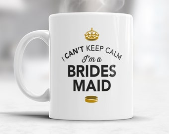 Bridesmaid Gift, Wedding Mug,  Funny Wedding Gift, Bridesmaid Mug, Funny Bridesmaid, Bridesmaid Present, Alternative Bridesmaid Glass or Cup