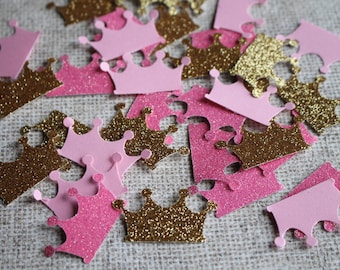 Crown Confetti, Princess Birthday Party Decoration, Princess Baby Shower,Crown Confetti Mix, Confetti Table Decoration, Pink Gold Decoration