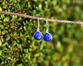 Blue Lapis Earring Lapis Lazuli Earring Lapis Jewelry Silver Lapis Earrings Sterling Silver Lapis Gemstone Drop Earring Lapis Dangle Earring