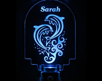 Dolphin Night Light Personalized