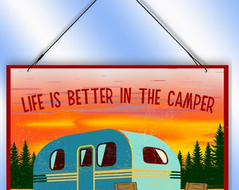 Life's Better In The Camper Decorative Window Sun Catcher from Redeye Laserworks