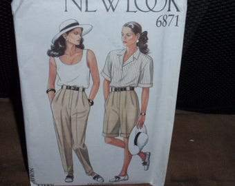 New Look 6871, Short And Trouser Pattern Size 8-18   New - Uncut