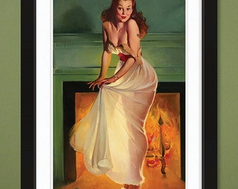 Gil Elvgren – Sheer Delight 1948 (12x18 Heavyweight Art Print)