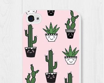 Cactus iPhone 8 Case Kawaii iPhone Case iPhone 7 Case Pink Kawaii Phone Case iPhone 6 Case Samsung Galaxy S7 Case iPhone SE Case Galaxy S6