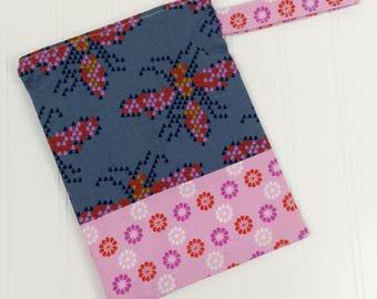 Wet Bag Zippered (Small) - Heart Bees & Flowers