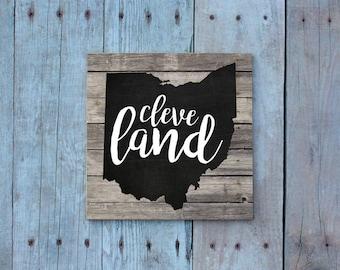 Cleveland / Cleveland Magnet / Cleveland Ohio / Ohio Magnet / Cleveland Gift / Magnet / Fridge Magnet / Cleveland Art / Gift Under 5 / Ohio