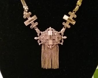 Vintage Victorian Revival 1960's Metal Necklace - ***FREE SHIPPING***