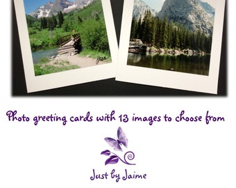 Handmade greeting cards with professionally printed nature prints - 5 x 6.5 inches - 13 image options -- sets of 12,16 or 20 -- blank inside