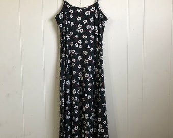 Vintage 90s Floral Print No Boundries Long Sundress