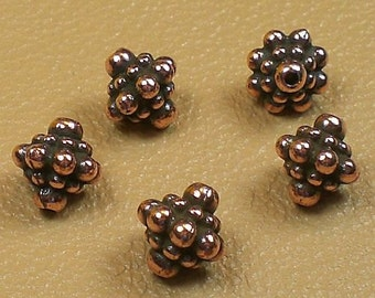 8mm Brass Oxide, Blackened Pewter or Copper Finish Pamada Bead TierraCast 5 pcs. 94-5677