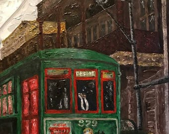 Hand-signed limited giclee on canvas: That Rattletrap Streetcar Named Desire