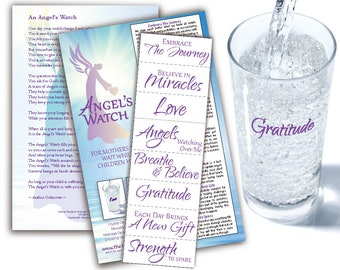 Angel's Watch Water Blessing Labels