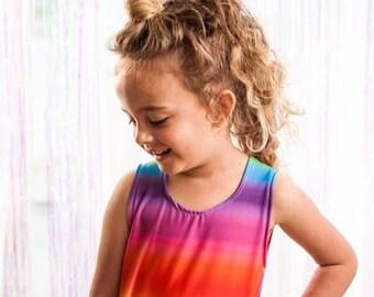 Mini & Me Rainbow Twirl Dress