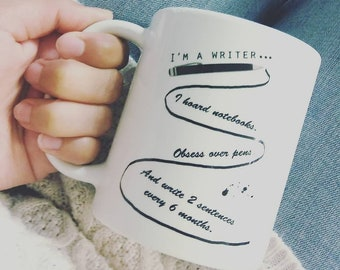 Writers Gift, Writers Gift Coffee Cup, I'm A Writer Coffee Cup, Writer Coffee Cup, Bookish Coffee Cup, Bookworm Gifts