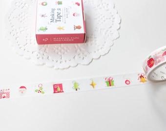 Christmas Washi Tape,  Christmas Presents Santa Washi, Winter Washi, Christmas Stickers, Christmas Wrapping (XM-137)