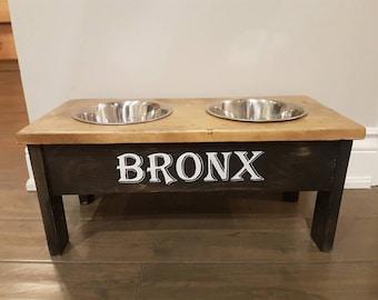 Large dog food stand
