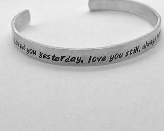 Love You Stamped Cuff