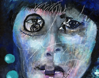 Portrait of Blue Androgyny, Contemporary Art, Pop Prints, Gallery,