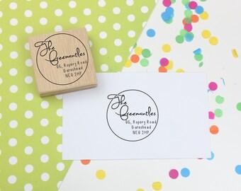 Return Address Stamp - custom stamp - personalised address stamp - family stamp - wedding - gift address