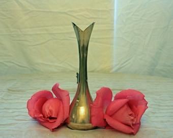 Unique Vintage Brass Bud Vase