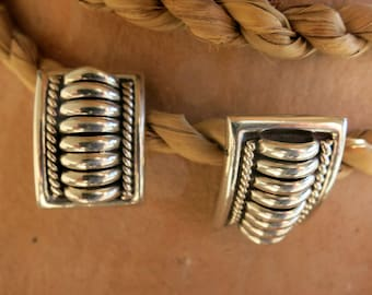 """TOMMIE CHARLIE EARRINGS,  Signed & Stamped """" Sterling"""", Posts"""