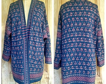 Blue & Pink Cardigan  by Camilla Eames