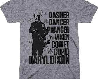 The Walking Dead Shirt. Walking Dead Shirt. Walking Dead Christmas. Christmas shirt. Daryl Dixon shirt. walking dead shirts.