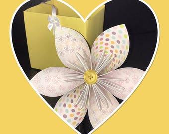 Handmade flower in a box