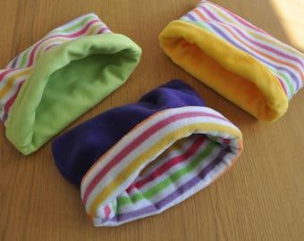 Pet snugglies (fleece pods) for guinea pig, rat, chinchilla, rabbit etc. Perfect for cuddles.