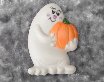 Vintage Ceramic Ghost Pin