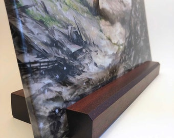 Vinyl Record Stand - Bloodwood - Now Playing LP Display - Hand-Made in USA