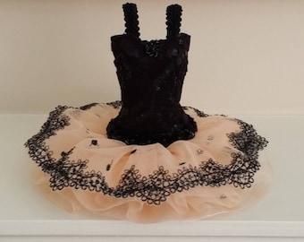 JUST PEACHY  Ballerina Art Dress, ballerina tutu, ballet dress, art dress, miniature dress, bridesmaid gift, bat mitzvah gift