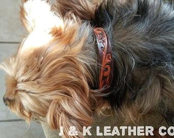 Small Custom Leather Dog Collar