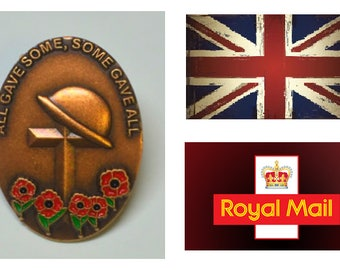Limited All Gave Some Poppy Wreath Cross British Military Poppy Brooch Enamel Pin Badge