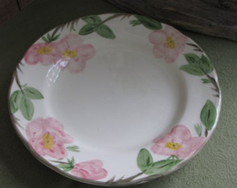 Vintage Franciscan Desert Rose Dinner Plate England Backstamp 1976 - 1984 Hand Painted Dinnerware and Replacements One Plate