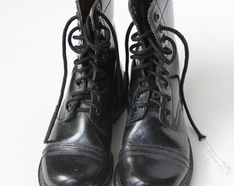 Combat Boot Size 3 1/2  Leather Boots Army Military