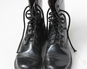Combattre la botte taille 3 1/2 cuir bottes armée militaire