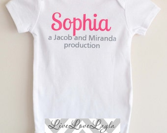 Personalized Parent Production Baby Bodysuit / Baby Bodysuit / Cute Creeper LONG SLEEVE AVAILABLE
