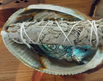 Sage Smudge Bundle, 4 1/2 - 5 inch White Sage Smudge Stick, Negativity Remover, Spiritual Cleansing, Smudging
