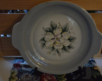 Spring Magnolia Cake Plate by Harker Pottery