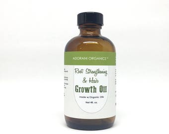 HAIR GROWTH Oil   Root & Hair Strengthening Growth Oil    Powered with Essential Oils: Rosemary, Peppermint, Cedarwood by Adorani Organics