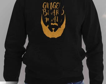 Ginger Beard Man Hoodie-  Stocking Stuffers for Men #J