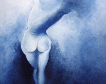 Blue Framework Original Oil print